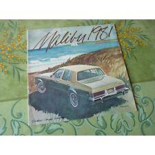 Chevrolet Malibu 1981, catalogue brochure dépliant