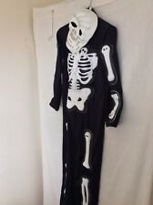 halloween skeleton Costume Girls/boys 10 Yrs