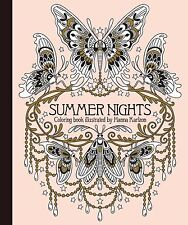 Coloring Book Adult Summer Nights Beautiful Designs Relax Fun Relief Stress New
