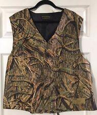 Mossy Oak Shadow Grass Full Back Chuck Vest Men's Formal Wedding Prom Size 48R