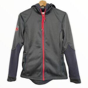 Spyder Ladies Official US Ski Team Grey Bandita Full Zip Hoody Jacket Sz Med