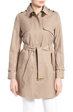 COLE HAAN Luxe Designer Faux Leather Trim Trench Coat Size XL/ 16 AU RRP$ 545