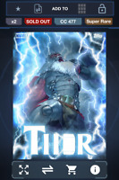 Topps Marvel Collect! King Thor Thorsday Wave 3 AWARD   DIGITAL