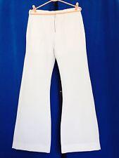 USN - SIZE 37 WAIST , 29 INSEAM) WHITE BELL BOTTOM PANTS , 100% POLYESTER