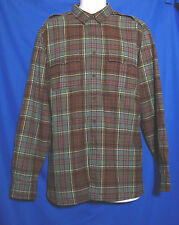 Polo Ralph Lauren Shirt Mens Size XL Military Western Style Epaulet Green Plaid