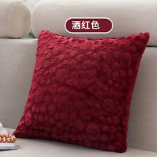 Classic Solid Velvet Throw Pillow Cushion Case Cover Concise Office Home Décor