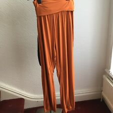 Join Clothes Yoga Inspired Trousers Size S Terracotta NEW