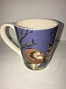 Pier 1 Imports 16 Oz Ironstone Coffee Mug Cup Dog & Cat Halloween Costumes