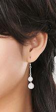 Women 18K White Gold Filled Crystal Rhinestone Ear Stud Hook Dangle Earrings #2