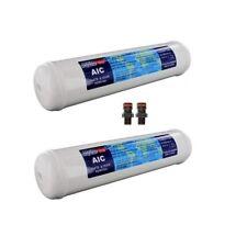 2x Inline Silver GAC Anti-Bacterial Caravan Boat Water Filter Cartridge