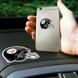 Fanmats NFL Pittsburgh Steelers Get a Grip Cell Phone Thick Polymer Stickers