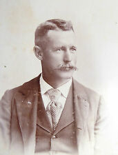 1800s Victorian Cabinet Card Photograph Henningar Bro Middletown Connecticut