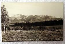1947 Rppc Postcard Pikes Peak From Bald Mt Rampart Range Road Colorado #d4u