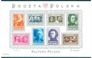 POLEN POLSKA Block 10 -POLNISCHE KULTUR- tad. postfrisch**, TOP-QUALITÄT!!