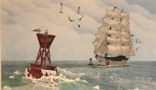 Vintage Signed Numbered William Coombs Seaward Ship Gallery Price $150 #S431