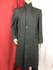 rare EATON CANADA 🇨🇦 Wool/Cashmere long charcoal car pea coat overcoat M 40