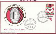 ITALIA FDC ROMA LUXOR 372 MILAN CAMPIONE D'ITALIA 1987  - '88 1988 TORINO Z578