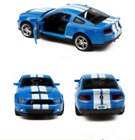 Ford Mustang GT500 Model Car Toys 1:32 Sound&Light Alloy Diecast Collection Blue