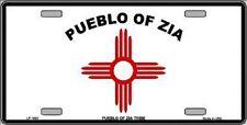 Aluminum License Plate Native American Flag Pueblo of Zia NEW