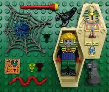 LEGO HOTEP MUMMY MINIFIG LOT KING Pharaoh Egypt figure w/ COFFIN Adventureres