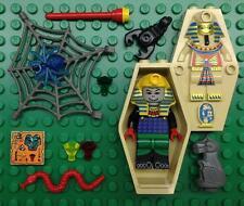 LEGO HOTEP MUMMY MINIFIG LOT KING Pharaoh Egypt figure w/ COFFIN Adventureres