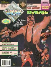 eb1462 Ricky Steamboat Sting Steiner Bros Vader signed wrestling Magazine /Coa