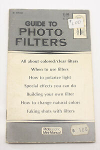Photo Filters by Petersen Pocket 1973 #628 Guide Booklet - English USED B216J