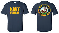 T-shirt USN US Navy Veteran Military Navy Blue Shirt