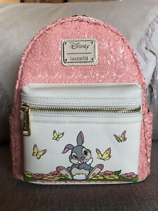 Loungefly Sequins Thumper Bambi Mini Backpack Grotto Treasures Exclusive LE 1000