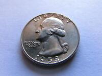 1958 D Washington Quarter Denver Mint MS UNC 25 Cents US Silver Coin