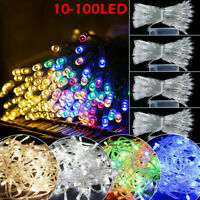 10-100 LED Fairy String Lights Battery Operated Party Bedroom Garden Decor Sy