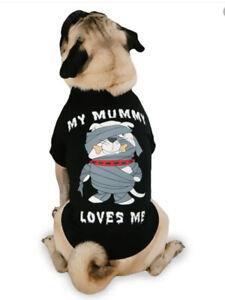 MY MUMMY LOVES ME Halloween Dog Shirt Sz S/ M New