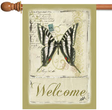 New Toland - Butterfly Par Avion - Cute Postcard Welcome House Flag