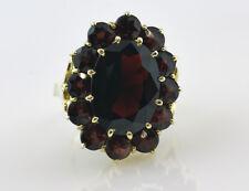 Granat Ring 333 8K Gelbgold