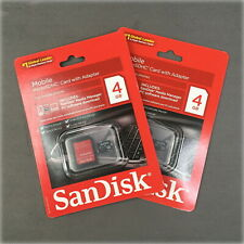 🔥2 pack🔥 Genuine Sandisk 4GB microSDHC Card Class 4 +Adapter Micro SD microSD