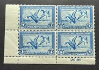 WTDstamps - #RW1 1934 Plate# Block - US Federal Duck Stamp - Mint OG NH