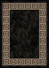"BLACK ORIENTAL AREA RUG 4X6 SMALL PERSIAN CARPET 021 - ACTUAL 3' 7"" x 5' 2"""