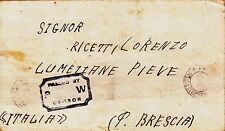 Z2915-II WW., P.O.W.  FROM WASHINGTON  TO BRESCIA ( ITALY), CAMP 202, 1943