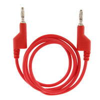 Dual Copper 1M Stackable 4mm Banana Plug Multimeter Test Cable Lead Cord Red