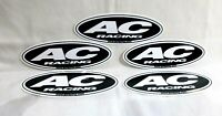 """Lot of 5 AC Racing Decal Stickers Oval 5.5""""Wide X 2""""Tall"""