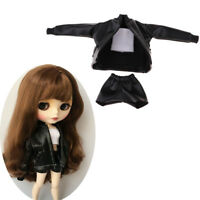 Black Jacket Short Pants Vest Clothes for Blythe Licca Pullip Party Outfit