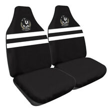 84057 COLLINGWOOD MAGPIES AFL LOGO SET OF 2 FRONT CAR SEAT COVERS SIZE 60