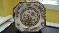 SQUARISH SIDE PLATE BY STAFFORDSHIRE POTTERY IN INDIAN TREE PATTERN