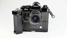 Canon F1 Camera Body with Motor Drive MF and 28mm 3.5 FD Lens
