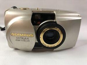 Olympus Stylus ZOOM 115 Deluxe 35mm Point & Shoot Film Camera Japan