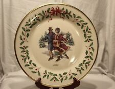Lenox ~The Annual Holiday Collector Plate 1998 8th in Series Made in Usa