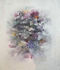 Vintage European oil painting flowers