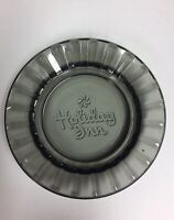 VINTAGE SMOKY GRAY GLASS ADVERTISING ASHTRAY HOLIDAY INN HOTEL TRAVEL