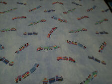 Pottery Barn Kids Twin Duvet Blue Chambray Trains Red Green Yellow Boys