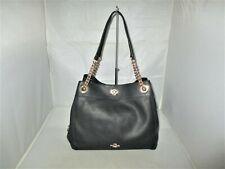 COACH 36855 Turnlock Edie Pebbled Leather Shoulder Bag, Hobo, Tote $395 Black